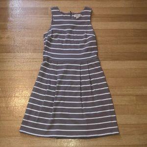 Cream and white striped Loft Dress